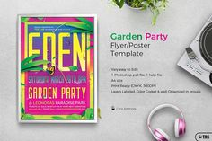 Garden Party Flyer Template by Thats Design Store on @creativemarket