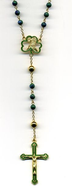 rosary: pinned for my Irish ancestors who braved great peril to come to this land and give me strong roots and heritage