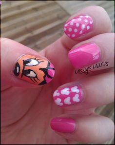 Minnie Mouse Nails Disney Inspired Nails, Disney Nails, Creative Nail Designs, Creative Nails, Hot Nails, Hair And Nails, Nail Polish Art, Nail Art, Minnie Mouse Nails