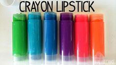 Make Your Own Crayola Lipstick - Hallecake