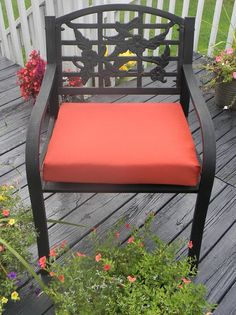 Items similar to Indoor / Outdoor Foam Universal Chair Seat Cushion with Ties - SolidTerra Cotta / Clay / Pottery / Rust - Choose Size on Etsy Outdoor Chairs, Indoor Outdoor, Outdoor Furniture, Outdoor Decor, Seat Cushions, Rust, Ties, Pottery, Clay