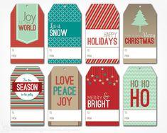 making christmas gift tags   Christmas Gift Tags - Digital PDF File - Instant Download Holiday Tag ...