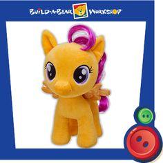 My Little Pony Build-A-Bear Plush Toy - Scootaloo - Tesla's Toys My Little Pony Dolls, All My Little Pony, My Little Pony Party, My Little Pony Friendship, My Little Pony Scootaloo, Bear Shop, Little Poney, Build A Bear, Cool Toys