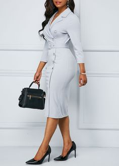 Dresses For Women Classy Work Outfits, Classy Dress, Chic Outfits, Fashion Outfits, Mode Xl, Elegant Dresses, Casual Dresses, Official Dresses, Look Girl