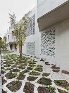 Billedresultat for wagon landscaping Space Architecture, Architecture Details, Green Landscape, Landscape Design, Urban Nature, Contemporary Garden, Garden Inspiration, Garden Landscaping, Outdoor