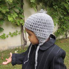 Gorro peruano Gris medio de 9 a 18 meses en lana 100% natural Gorros  Peruanos d80dfeeaebc