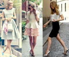 ladylike, Saia de babados, saias de cintura alta, vestidos godê, peças que marquem a cintura, peças evasê, saialápise blusas franzidas na manga.