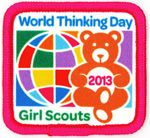 World Thinking Day February 22 Each year on February World Thinking Day, girls participate in activities and projects with global themes to honor their sister Girl Guides and Girl Scouts in other countries. Girl Scout Leader, Girl Scout Troop, Brownie Girl Scouts, Boy Scouts, Girl Scout Activities, Activities For Girls, Children Activities, Gs World, Girl Scout Patches