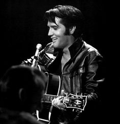 no-one else can wear black leather the way #elvis did!