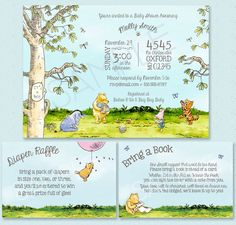Classic Winnie-the-Pooh Baby Shower Invitation - Classic Pooh Party Neutral Theme - Boy, Girl, Unisex - Classic Pooh Birthday Party by strangers on Etsy https://www.etsy.com/listing/254271421/classic-winnie-the-pooh-baby-shower
