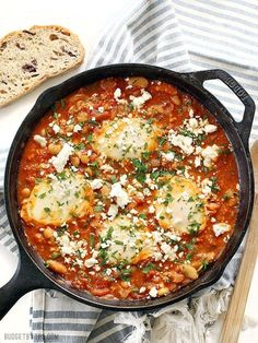 This hearty Israeli recipe featuring cannelloni beans, whole canned tomatoes, baked eggs, and lots of spices is not only delicious, but also super affordable. A serving will set you back just $1.62. Get the recipe.