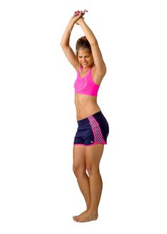 """Stripe Down"" running shorts available at www.devonmaryn.com. #devonmaryn"
