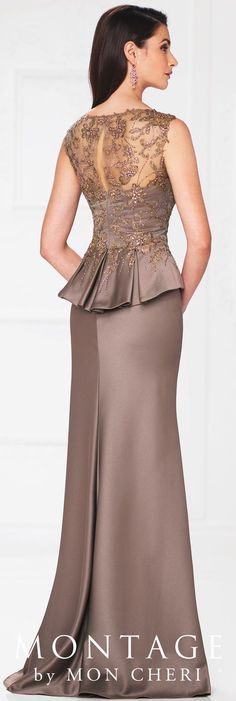 Mother of the Bride Dresses by Montage, these Mon Cheri dresses are designed with the modern mother in mind. Gown Pattern, Dress Patterns, Elegant Dresses, Formal Dresses, Wedding Dresses, Sabrina Neckline, Mom Dress, Bride Gowns, Mothers Dresses