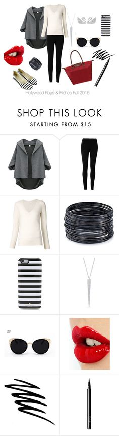 """""""Different Stripes"""" by magdamarcella on Polyvore featuring Max Studio, Chloé, ABS by Allen Schwartz, Kate Spade, Una-Home, Charlotte Tilbury, Noir Cosmetics and NARS Cosmetics"""