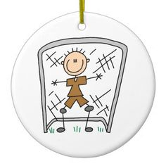 Male Soccer Goal Keeper T-shirts and Gifts Double-Sided Ceramic Round Christmas Ornament