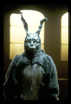"""Donnie Darko"" - A troubled teenager (Jake Gyllenhaal) is plagued by visions of a large bunny rabbit that manipulates him to commit a series of crimes, after narrowly escaping a bizarre accident. SO MANY ways to interpret this film! Image and info credit: IMDb."