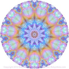 """Portal of Light"" Gemstone Mandala Art by Robyn Nola. ♥ Take a deep breath and breathe in the healing colors and patterns. Within you there is a rainbow of light. Always shine your beautiful light for all to see."