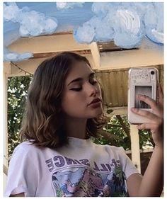 Girl With Brown Hair, Girl Short Hair, Pretty Short Hair, Short Hair Outfits, Bandana Hairstyles, Girl Hairstyles, Dye My Hair, New Hair, Aesthetic Hair