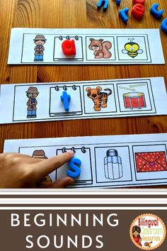 Math Literacy, Teaching Kindergarten, Teaching Spanish, Literacy Centers, Phonemic Awareness Activities, Alphabet Activities, Bilingual Classroom, Classroom Resources, Education Information