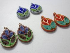 Quilled Paper Earrings - New Spring Designs - PAPER CRAFTS, SCRAPBOOKING & ATCs (ARTIST TRADING CARDS)