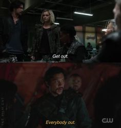 #bellarke #the100season5 • Bellamy taking lessons from wife Bellarke, Getting Out, Fictional Characters, Fantasy Characters