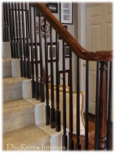 Paint your spindles black for a dramatic change. Decorating In A Day/One Day Design