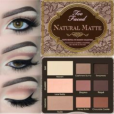 Too Faced Natural Matte Palette Review in my Blog - Full TUTORIAL Link in my Bio www.melissasamways.com Perfect Skin and All Matte Makeup | Daytime!