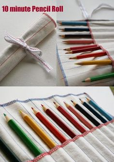 Quality Sewing Tutorials: 10 Minute Pencil Roll by Cinti of My Poppet - Knitting Needles or Crochet Hooks? Sewing Class, Sewing Basics, Sewing Hacks, Sewing Tutorials, Sewing Projects, Sewing Patterns, Basic Sewing, Couture Bb, Creation Couture