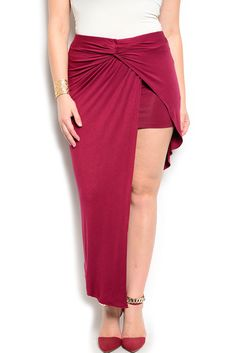 DHStyles Women's Burgundy Plus Size Sexy Fitted Wrap Front High Low Skirt #sexytops #clubclothes #sexydresses #fashionablesexydress #sexyshirts #sexyclothes #cocktaildresses #clubwear #cheapsexydresses #clubdresses #cheaptops #partytops #partydress #haltertops #cocktaildresses #partydresses #minidress #nightclubclothes #hotfashion #juniorsclothing #cocktaildress #glamclothing #sexytop #womensclothes #clubbingclothes #juniorsclothes #juniorclothes #trendyclothing #minidresses #sexyclothing…