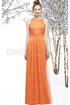 Elegant Long Sleeveless Floor-length Sheath Natural Bridesmaid Dresses - Formal Dresses - Special Occasion Dresses - Dresshop.com.au