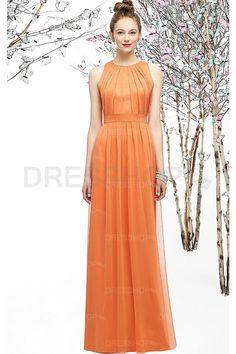 Elegant Long Sleeveless Floor-length Sheath Natural Bridesmaid Dresses - Formal Dresses - Special Occasion Dresses - Dresshop.com.au