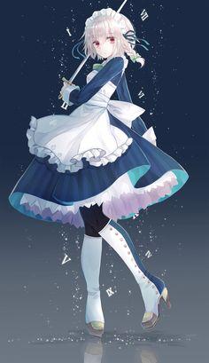 touhou Part 393 - - Anime Image Girls Anime, Kawaii Anime Girl, Manga Girl, Anime Art Girl, Character Concept, Character Art, Character Design, Anime Maid, Beautiful Anime Girl