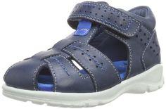 Ecco Hide & Seek Cocoa Brown/Cactus Sambal – Zapatos de primeros pasos de cuero bebé – unisex, color azul, talla 19