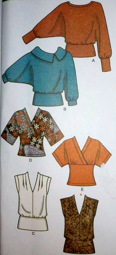 """Women's Sewing Pattern Simplicity 4020 Pullover Knit Tops Sleeve Neckline Variations Sizes 12-20 Bust 34-42"""""""