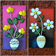 #taşboyama #stonepainting #naturmort #flowers