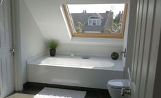 Image result for sloped roof bathtub