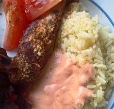 God sås till den grillade kycklingen Pork, Dressing, Meat, Grilling, Pork Roulade, Beef, Pigs, Pork Chops