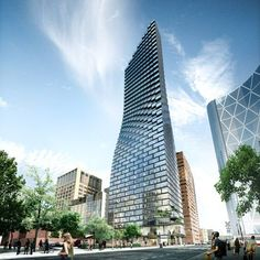 Construction is now underway on the 66-storey Telus Sky Tower designed by Bjarke Ingel's firm for Calgary, Canada