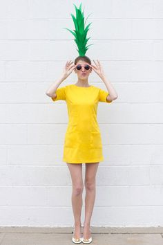 DIY Pineapple Costume for Halloween - Kids costumes