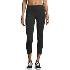 The North Face Dynamix Cropped Sport Leggings ($85) ❤ liked on Polyvore featuring activewear, activewear pants, tnf black, the north face and sports activewear