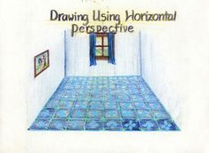 Waldorf ~ 7th grade ~ Perspective Drawing ~ Using Horizontal Perspective ~ main lesson book
