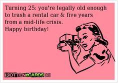 Cocktails And Confetti Milestones Birthday Quotes 25th Happy