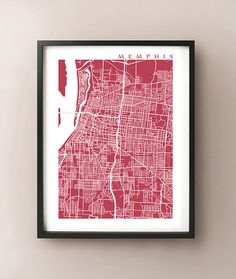 Memphis City Map Print by CartoCreative on Etsy