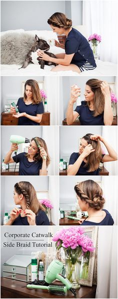 0e9504a935c A simple yet gorgeous side braid tutorial using the little green gem from  Harry Josh!