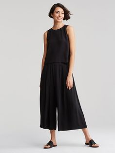 Eileen Fisher Shell and Skirt Pant
