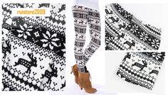 Women Lady Nordic Pattern Knit Warm Leggings Pants Tights Snow Trousers Footless-in Socks & Hosiery from Apparel & Accessories on Aliexpress.com