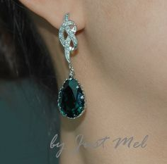 Detailed Knot Earring with Swarovski by justmel, $38.99