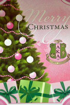 Merry Christmas, AKA sorors! Aka Sorority, Alpha Kappa Alpha Sorority, Sorority Life, Pink Christmas, Christmas Bulbs, Merry Christmas, Pretty Girl Rock, Pretty In Pink, Pretty Girls