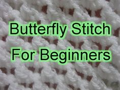 ▶ Butterfly Stitch Increase and Decrease - Slow Motion Crochet - YouTube
