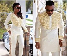 Items similar to African couples outfit, African fashion, african attire. on Etsy African Wedding Attire, African Attire For Men, African Clothing For Men, African Men Fashion, African Wear, Nigerian Fashion, African Weddings, African Women, Mens Fashion